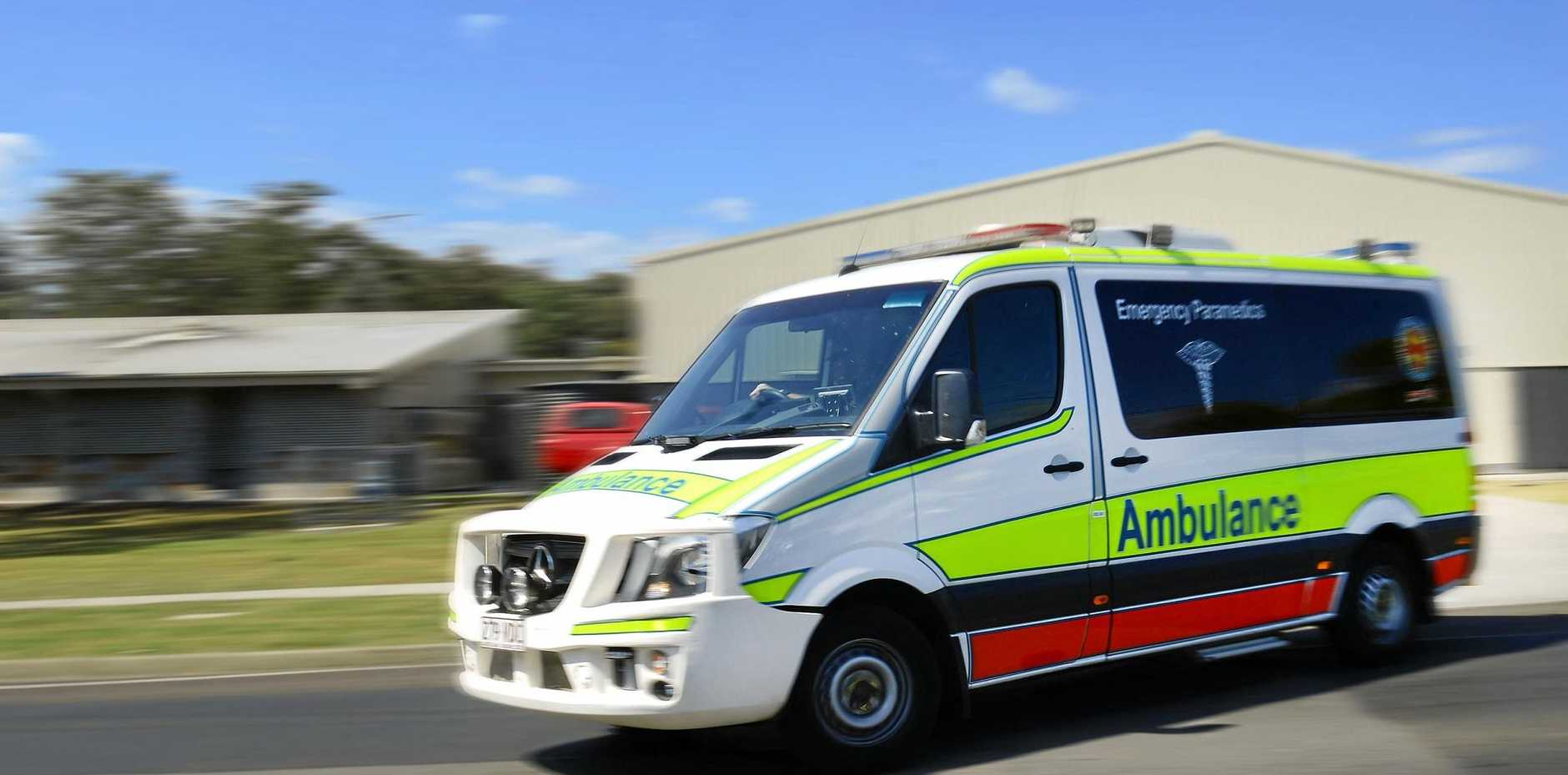 Queensland Ambulance Service paramedics were assessing the worker as of 12.20pm.