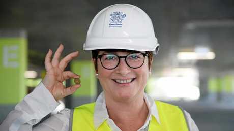 Wendy Hoey at the new Rockhampton Hospital carpark.