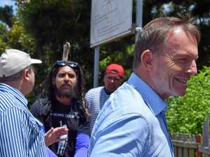Tempers flare as Abbott ambushed during Cherbourg visit