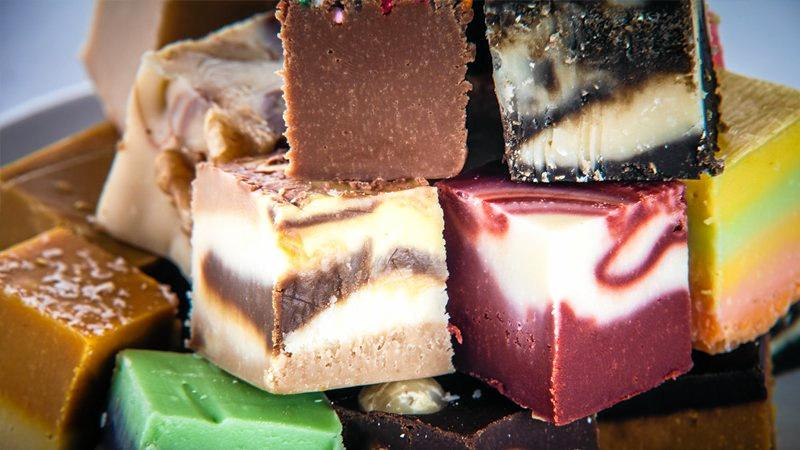 FUDGE DELIGHT: Fudgyboombahs at Montville has colourful, delectable treats, especially at Christmas.