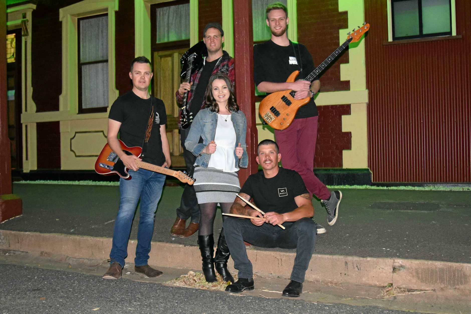 FRESH SOUNDS: Ash Moore (from left), Luke Costello, Elle Rudd, Josh Grant and Tim Alley from new band SideTracked.