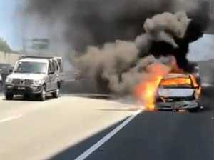 WATCH: Car bursts into flames at Banora Point
