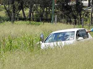 Teen cautioned after crashing into ditch in Warwick