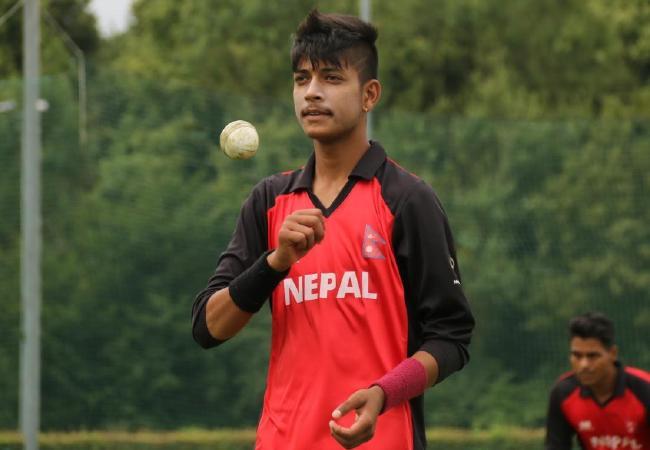 Nepalese young gun Sandeep Lamichhane.