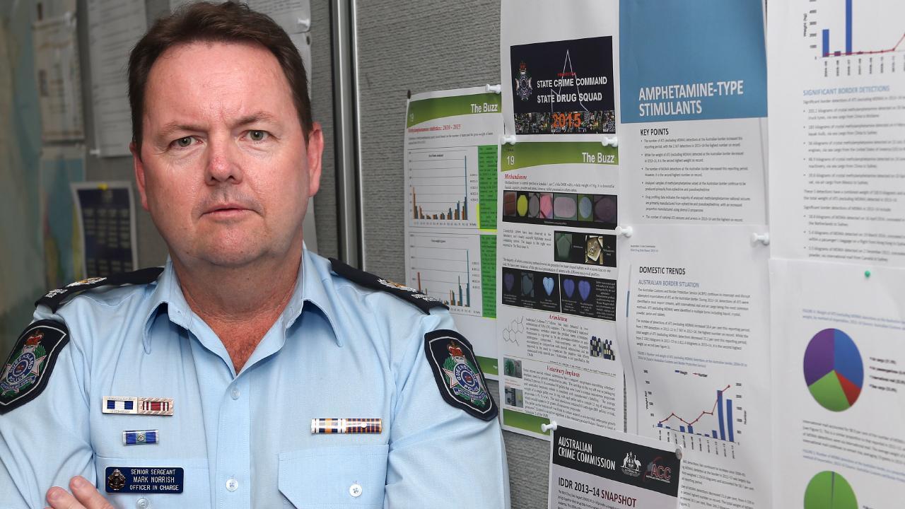 Wynnum Police Station Senior Sergeant Mark Norrish. Picture: Stephen Archer