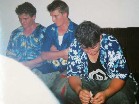 Scott Rush, Michael Czujag and Renae Lawrence in custody of Indonesian police at Bali airport in April 2005.