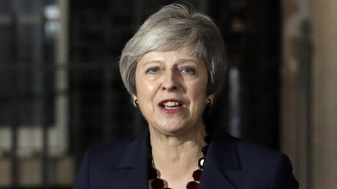 Britain's Prime Minister Theresa May has succeeded in getting her Brexit deal through Cabinet. Picture: AP