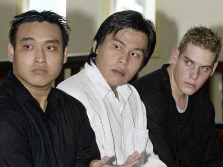 Tan Duc Thanh Nguyen, Si Yi Chen (centre) and Matthew Norman, in court during their 2007 appeal trial.