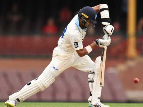 Jason Sangha in Sheffield Shield action for NSW. Picture: AAP