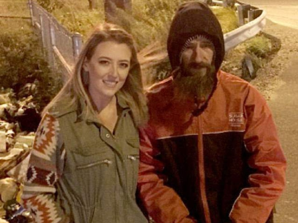 Homeless man Johnny Bobbitt Jr was said to have given Kate McClure his last $20 when her car ran out of petrol. Picture: Supplied