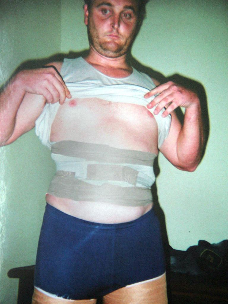 Bartender Martin Stephen had heroin taped to his stomach and legs.