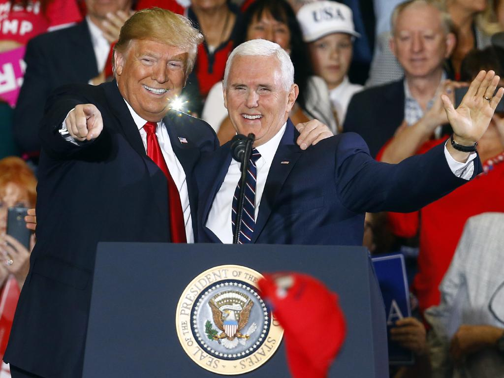 Becoming president is something Mike Pence has fantasised about since high school, says a co-author of his biography. Picture: AP