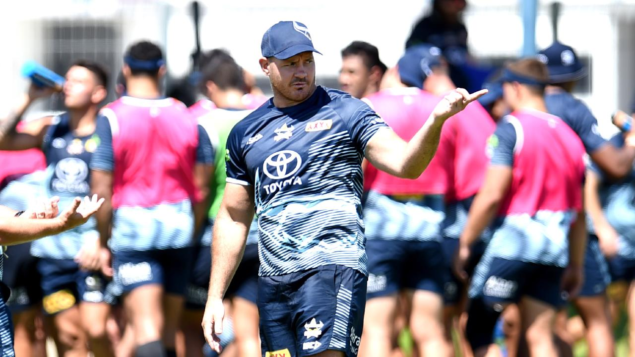 Matt Scott. NRL; North Queensland Cowboys pre season training at Townsville Sports Reserve. Picture: Alix Sweeney