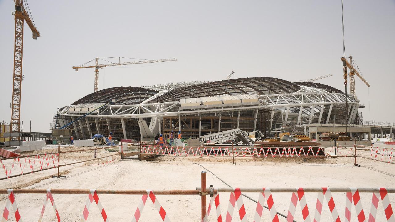 A view of the construction site of Al Wakrah Stadium. Picture: Mikhail Aleksandrov/TASS