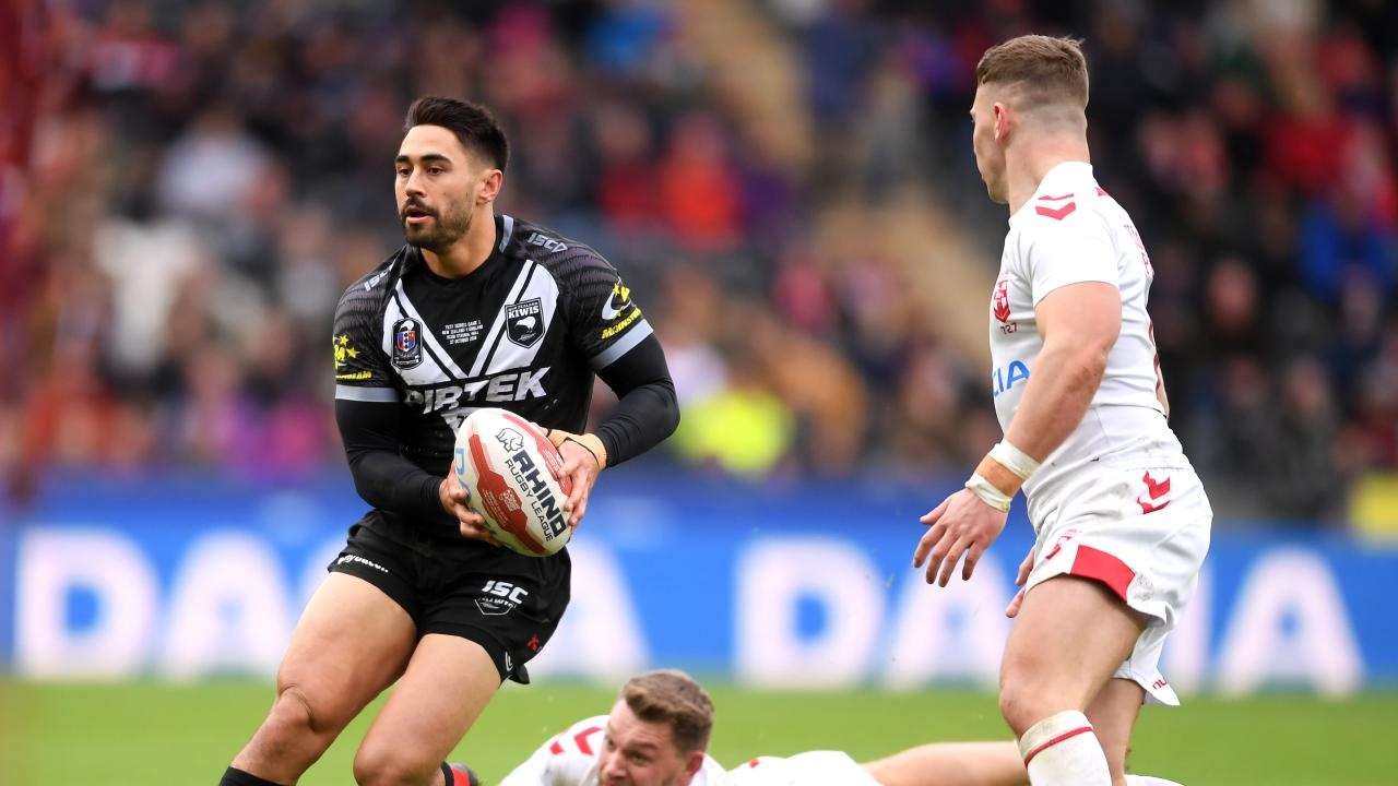 Shaun Johnson in action for the Kiwis. Picture: Getty