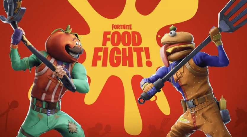 Fortnite has pitted Durr-Burger and Pizza Pit against each other. Picture: Fortnite