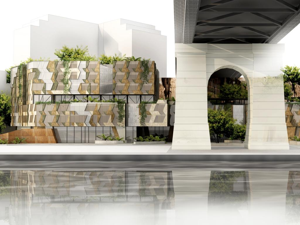An artist's impression of Art Series Hotels' new hotel at Howard Smith Wharves