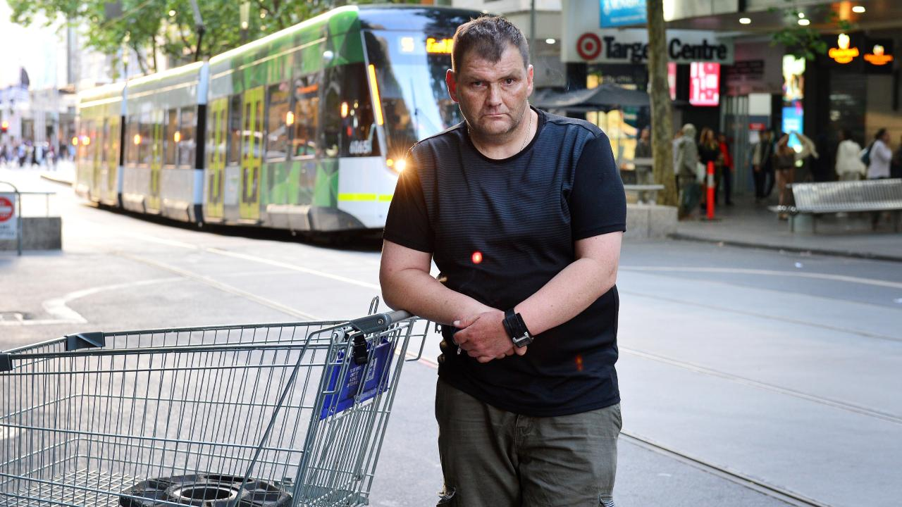 Michael Rogers was dubbed 'Trolley Man' after his heroic actions in the midst of the Bourke St terror attack. Picture: Nicki Connolly