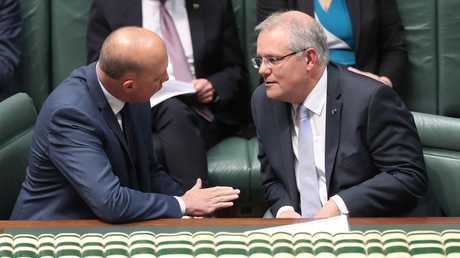 Home Affairs Minister Peter Dutton and Prime Minister Scott Morrison are looking at increasing the intake of skilled migrants. Picture: Kym Smith