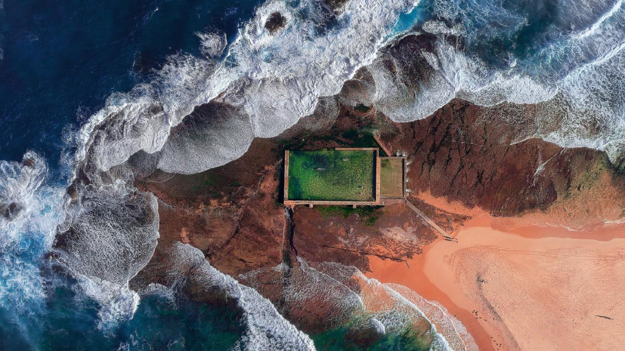 This photo of an Australian ocean pool placed within the top 50 of the amateur division. Picture: Chandra Bong/The EPSON International Pano Awards