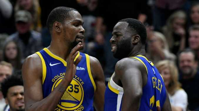 Golden State stars Kevin Durant and Draymond Green apparently don't see eye to eye.