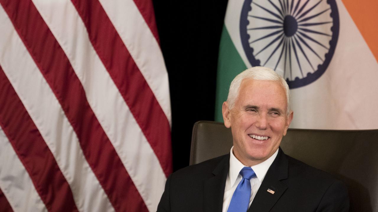 U.S. Vice President Mike Pence. (AP Photo/Bernat Armangue)