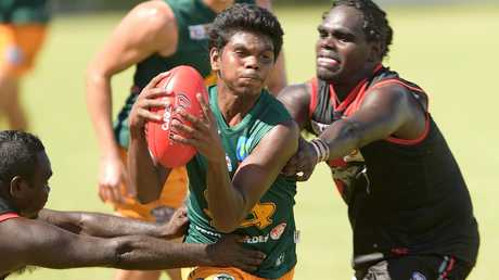Maurice Rioli Jr in action for St Mary's.