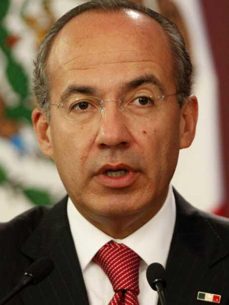 Mexico's President Felipe Calderon.  Picture:  Supplied