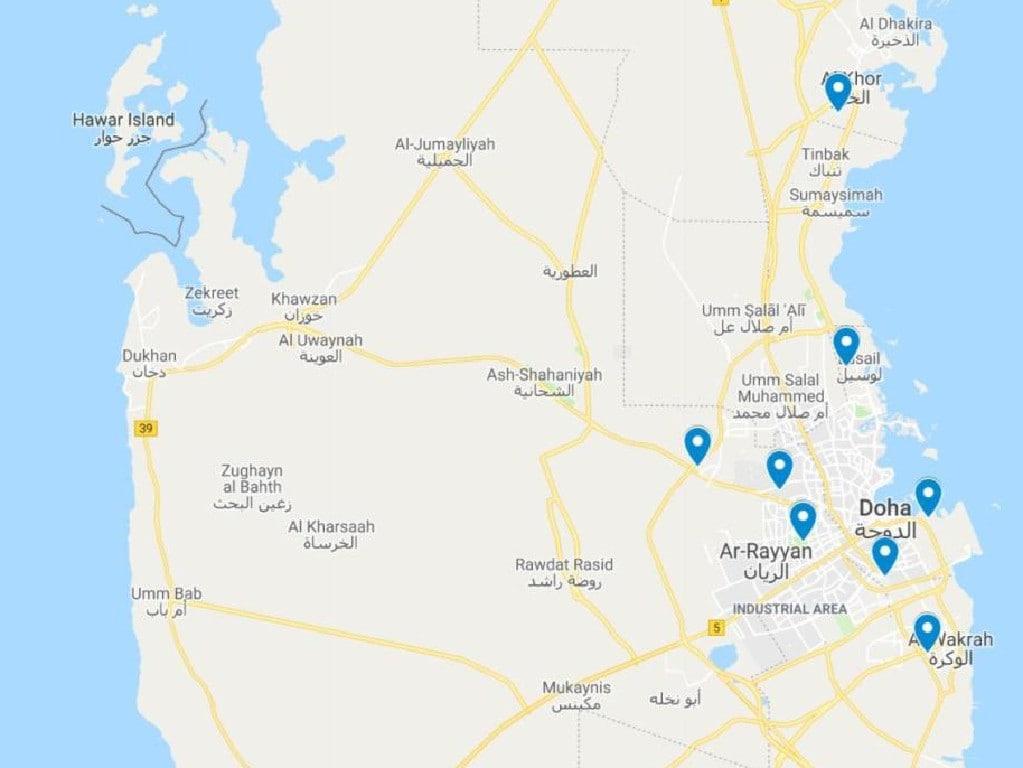 Qatar's eight stadiums. Picture: Supplied