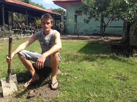 Michael Czugaj inside Kerobokan Jail. Picture: Supplied.