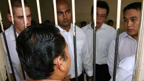 Only two of these Bali Nine members (pictured in 2005) Matthew Norman, Myuran Sukumaran, Si Yi Chen and Tan Duc Tanh Nguyen are still alive. Picture: Lukman S Bintoro.