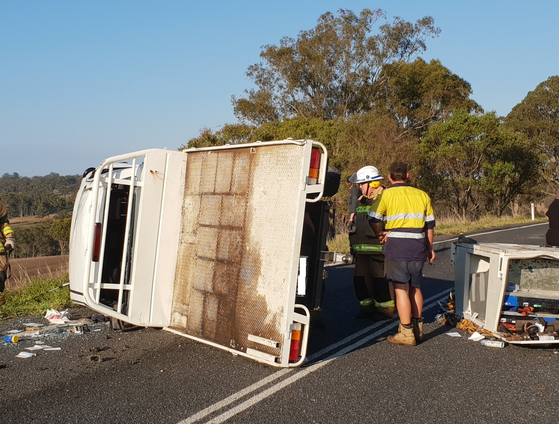 One man has been seriously injured and another is in a stable condition following a crash at Killarney this morning.