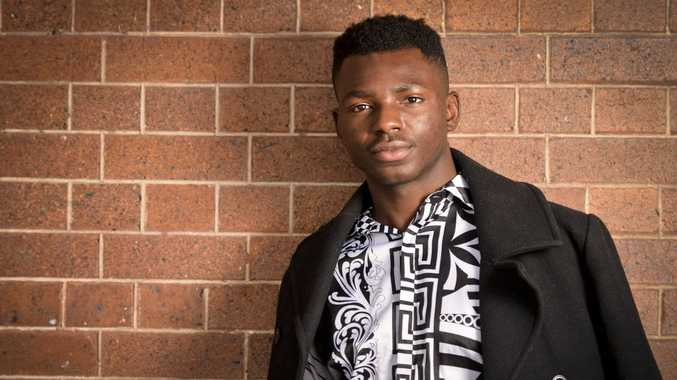 Salomon Lukonga is a former refugee who lives at Redbank. He is launching a fashion line to use the profits to provide basic care to people living in a large refugee camp in Africa.