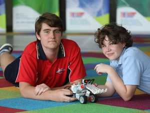 Ballina students Gabriel Lynch and Cassie Eady at the