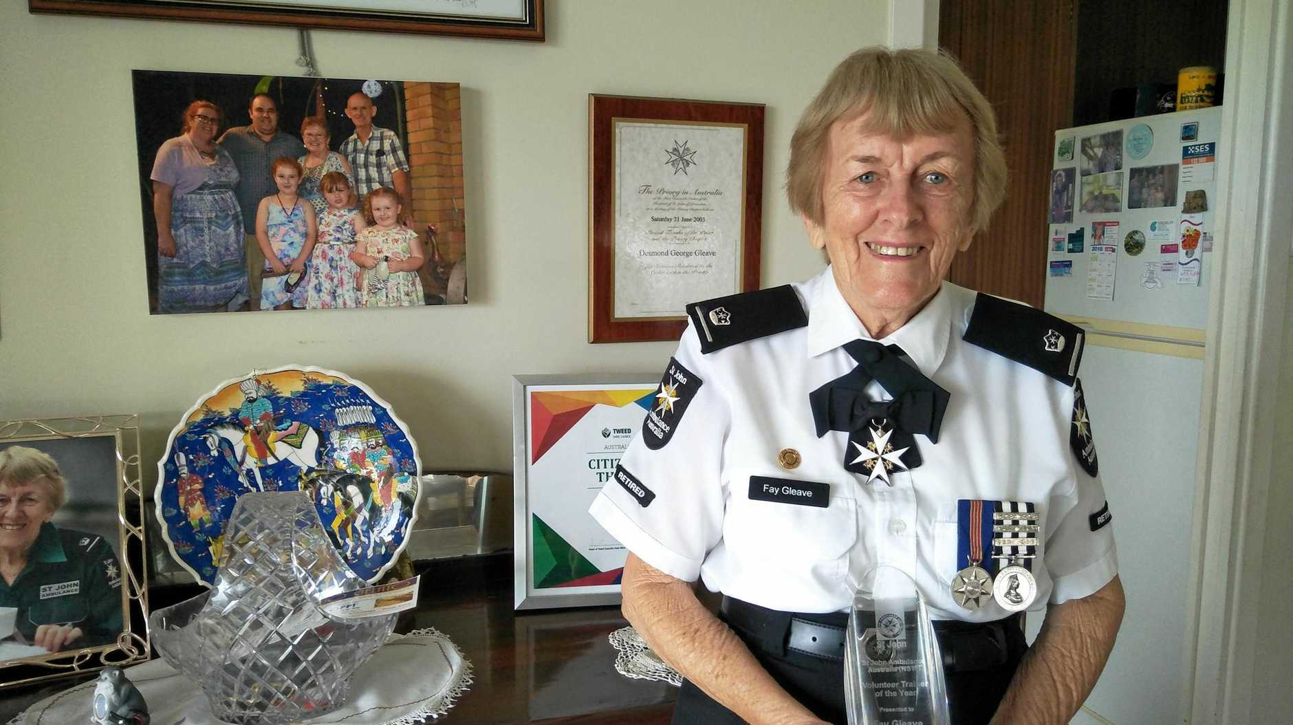 LIFETIME VOLUNTEER: Fay Gleave St John's Ambulance's trainer of the year.
