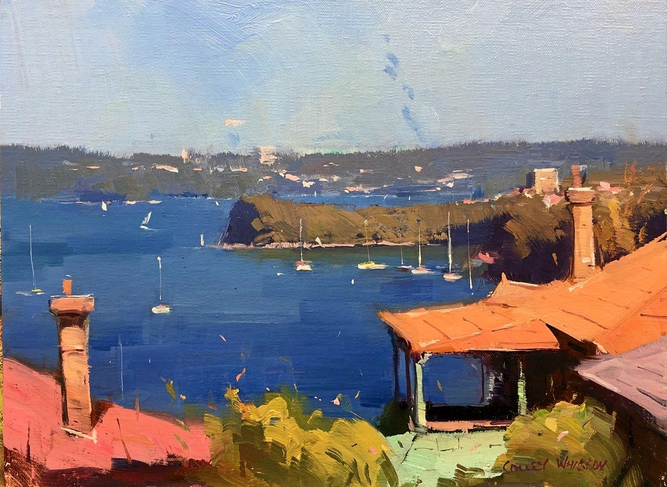 Mosman Bay Morning by Colley Whisson at Montville Art Gallery.