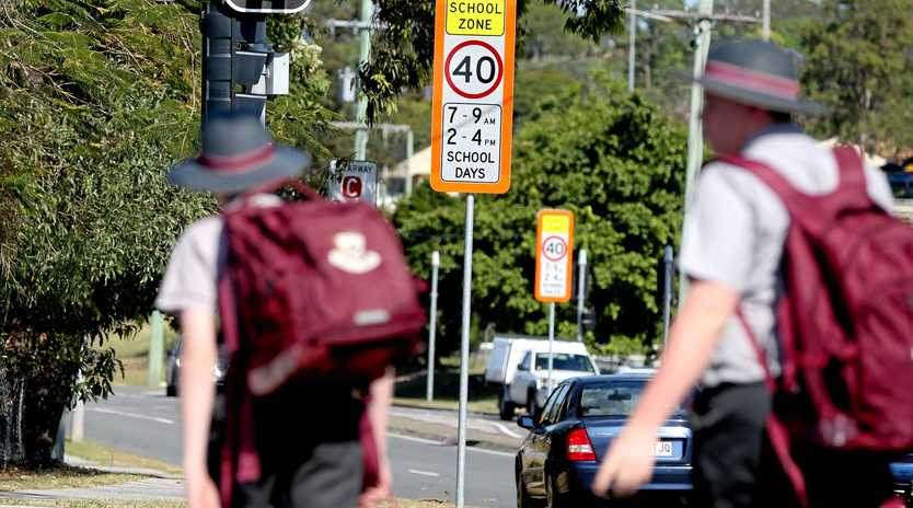 PANIC TIME: Parents can lose the driving plot at school drop-off.