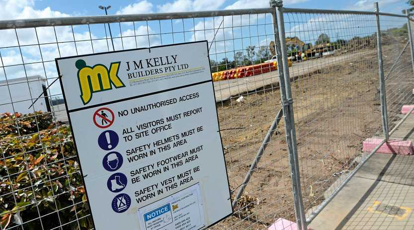 The Aldi construction site on Gladstone Road, Rockhampton, was just one contract being undertaken by the failed JM Kelly Builders.