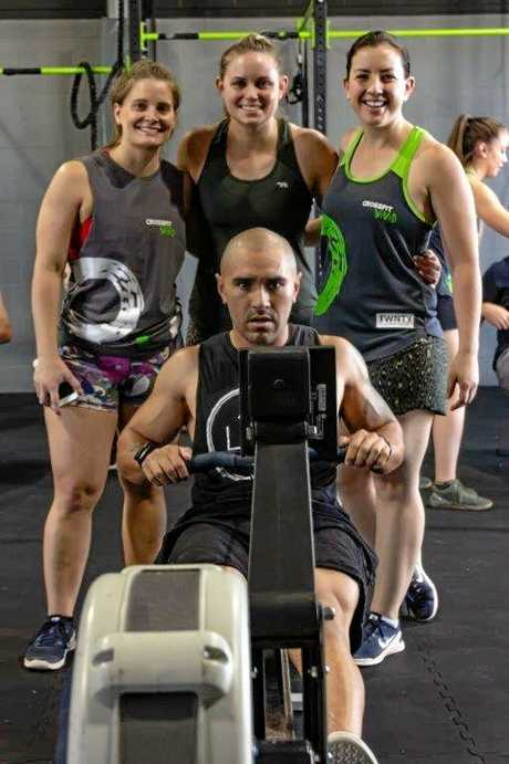 Crossfit Vivid members take part in a marathon row to raise funds for the Ronald McDonald Foundation.