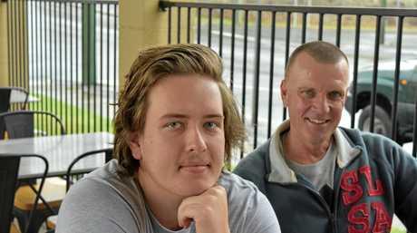 Gympie Times reporter Josh Preston with his dad Mark.