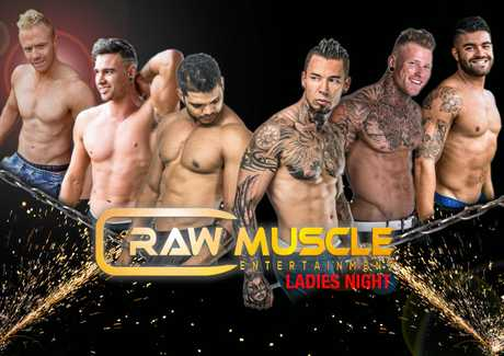 BIG GUNS: Raw Muscle will be appearing at the Queens Hotel on Saturday night.