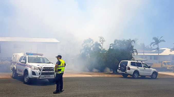Emergency services were on scene at a fire in Cannonvale