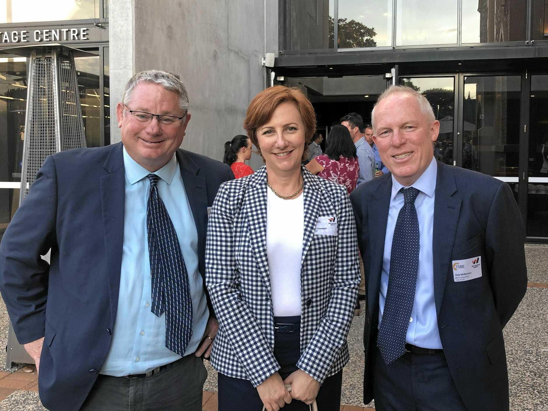 BIG BUILD: TSBE CEO Ali Davenport and Australian Rail Track Corporation North Star to Gowrie project director Rob McNamara.