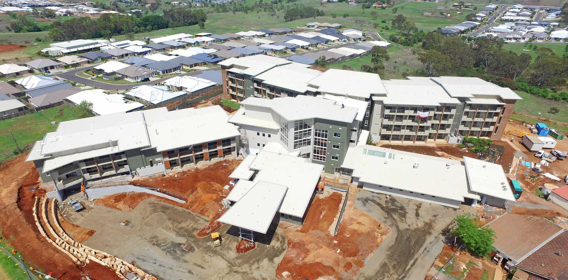 Ozcare's 150-bed aged care facility at Glenvale is nearing completion.
