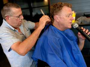 Bulletin's own Pistol Pete loses mullet to help the Hermanns