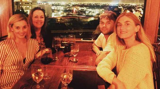 Jasmine Yarbrough with mother Cheryl, brother Josh and his girlfriend, model Emily Baker.
