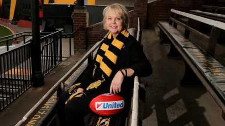 Peggy O'Neal was the first female AFL club president. Picture: Stuart McEvoy
