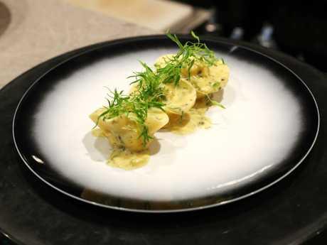 Moreton Bay bug and prawn tortellini at Gotham Grill