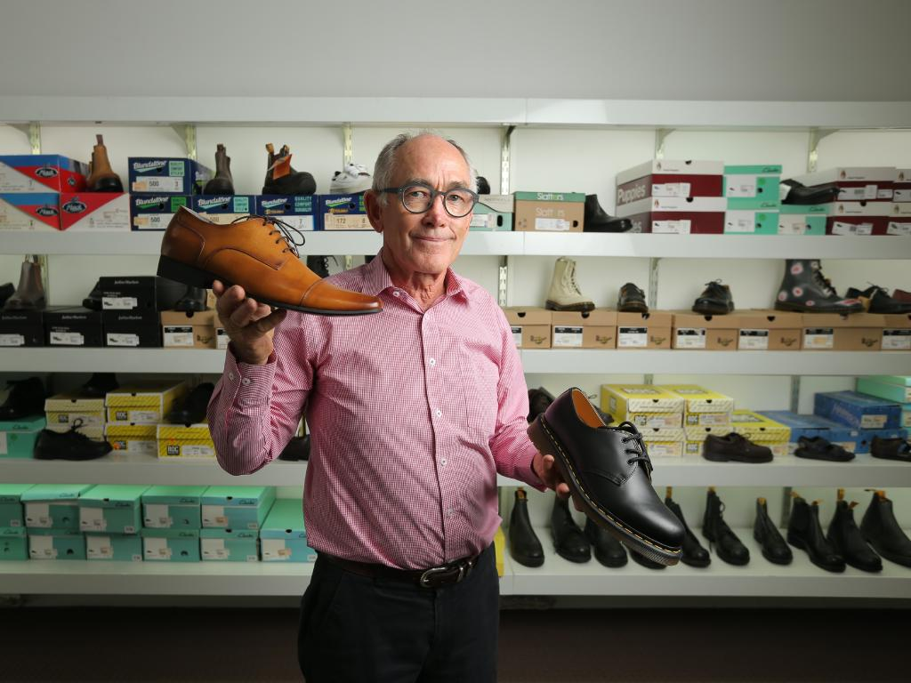 Andy Rawlings at Ipswich's Rawlings Shoes and Menswear, which has folded after 120 years. Picture: Mark Cranitch