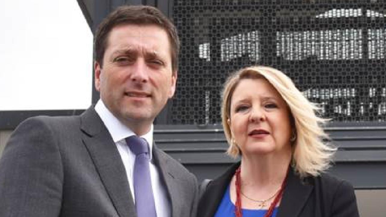 Victorian Opposition leader Matthew Guy with Liberal candidate for Narre Warren North Vikki Fitzgerald.